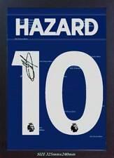 Eden Hazard Camiseta Chelsea Autógrafo Firmado Enmarcado Lona Impresa 100% algodón