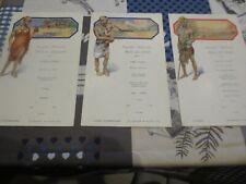 Paquebot Albertville Congo Belge - menus 18 décembre 1932