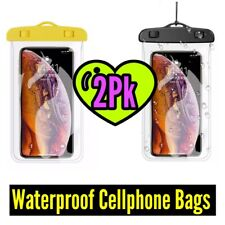 2Pk Touch Sensitive Waterproof Cellphone Bag, Case, Mobile phone, Valuables Bag