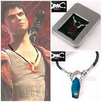 Game DmC: Devil May Cry Dante Vergil Nephilim Ruby Cosplay Necklace Pendant