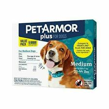 PETARMOR Plus for Dogs Flea and Tick Prevention Dogs, Long-Lasting Medium