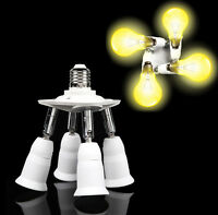 PORTALAMPADA ADATTATORE E27 4 IN 1 PER LAMPADE LAMPADINE ATTACCHI ORIENTABILI SC