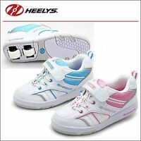 HEELYS AGILE KIDS ROLLERS WHEEL TRAINERS SIZE SHOES SKATES BOYS GIRLS WHITE PINK