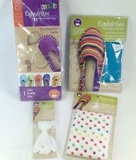 DIY Make Your Own Espadrilles Kit Toddler Sz 8 Soles Blue Polka Dot Fabrics Yarn