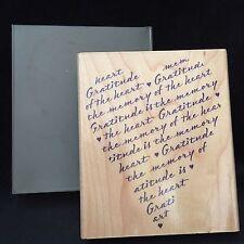 Hero Arts Rubber Stamp L1895 Gratitude Heart print Valentines