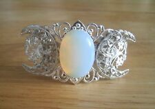 Opalite Triple Moon Cuff Bracelet, wiccan pagan wicca goddess witch witchcraft