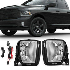 for 2013-2017 Dodge RAM 1500 Clear Bumper Fog Light Driving Lamp w/Wiring+Switch