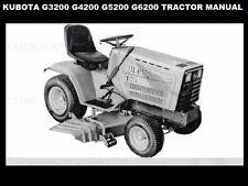 KUBOTA G3200 G4200 G5200 G6200 TRACTOR MANUAL w/ G 3200 4200 5200 Repair Service