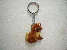 "Schlüsselanhänger ""Katze"" (Holz) / Keychain ""Cat"" (Wood)"