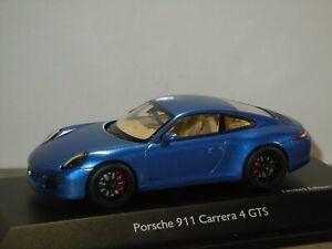 Porsche 911 991 Carrera 4 GTS - Schuco 1:43 in Box *40768