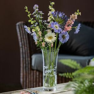 Dartington Crystal Bloom Trumpet Vase Marguerite - Brand New in Box