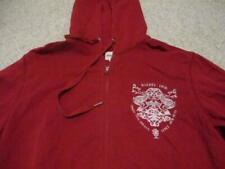 Diesel red zipped hoodie top adult size