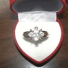 Sterling Silver Cubic Zirconia Engagement Ring Size 8 Stamped Thailand Wedding