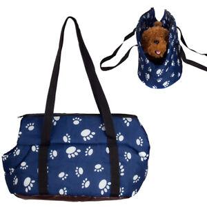 Paw Print Pet Carrier Purse Tote Comfort Dog Puppy Travel Shoulder Bag Handbag