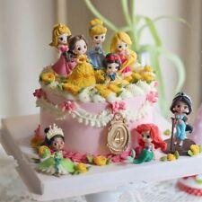 1 Set of 8 Princess Collection Cinderella Mermaid Figures Toy Ornament 8-10cm