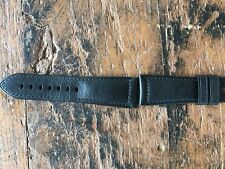 Officine Panerai Strap 26/22mm Black Leather-Cinturino Originale Pelle