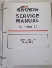 1997 MERCURY STERN DRIVE UNITS BRAVO ONE /  SERVICE MANUAL 11 / 90-17431 1087