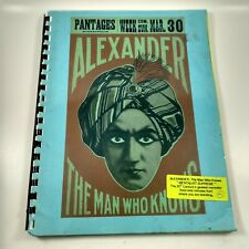 Lecture Notes on Alexander the Man Who Knows Heritage Days 1997 Darryl Beckmann