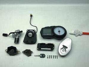 Ducati Multistrada 1000DS Zündschloss Schloßsatz CDI Tacho Key kit locks (4) 04'