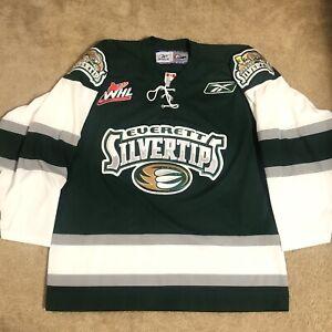 Reebok Everett Silvertips CHL WHL Hockey Jersey Green Alternate Third L