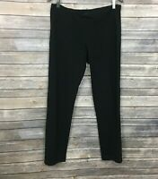 Eileen Fisher Viscose Black Pullover Pants (Size: M)