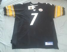 BEN ROETHLISBERGER #7 PITTSBURGH STEELERS AUTHENTIC HOME FOOTBALL JERSEY sz 54