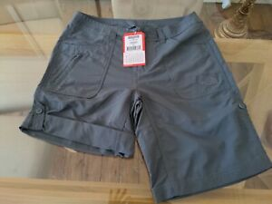 North Face Womens Horizon Sunnyside Trek/Sail Shorts Sz 10 Vanadis Grey £45 RRP
