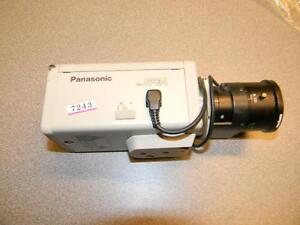 "Panasonic WV-BP134 1/3"" B/W Security Video Camera, Computar 4.5-10 Zoom Lens"