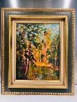 """Superbe HUILE SUR TOILE """" Promenade en forêt"""" signée Marcel AZEMA-BILA 1904-1999"""