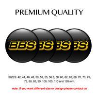 3D Print 4 x 48 mm Aufkleber Emblem BBS Silikon Felgen Nabenkappen