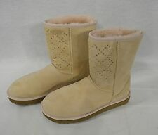 UGG Crystal Diamond Classic Short Boots in Freshwater Pearl US Women's Size 7M