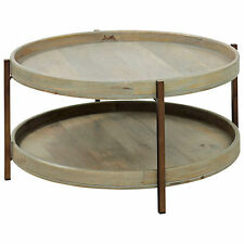 Less than 60cm Height Round Coffee Tables with Shelves