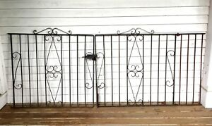 Antique Victorian Wrought Iron Fench Gate