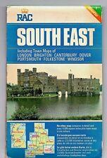 Original 1970's  RAC. Map of SOUTH EAST ENGLAND. No.1.