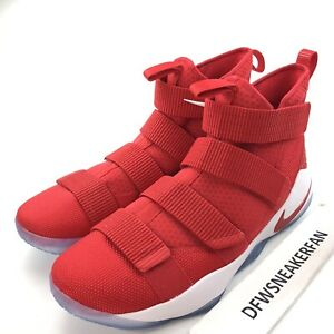 Nike Lebron Soldier 11 XI TB Men's 16.5 Red White Basketball Shoes 943155 600