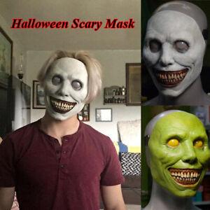 Horror Scary Halloween Mask Smile White Face Mask Exorcist Mask Demon Mask New