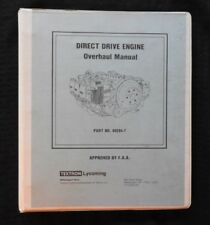 1966-1979 LYCOMING DIRECT DRIVE 6 & 8 CYLINDER AIRCRAFT AIRPLANE ENGINE OVERHAUL