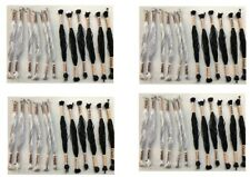 High Quality SILK Hand Embroidery Threads Skeins (12 White with 12 Black Oasis)