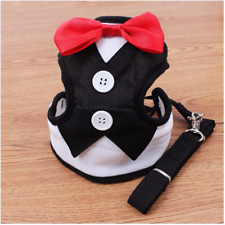 Fashion Small Dogs Harness & Leashes Pets Leads Puppy Vest with Bow Tie Costume