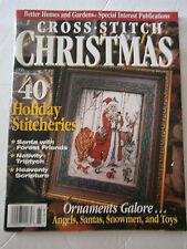 1996 Better Homes & Gardens Cross Stitch Christmas Magazine Ornaments Nativity