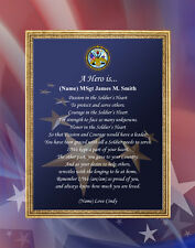 Army Gift Personalized Poem Military 11x14 Unframed Picture Mat Soldier Retire