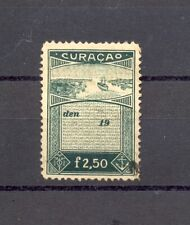 CURACAO F 2,50 --REVENUE STAMP --USED --F/VF