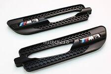 05-10 BMW E90 E91 E92 M3 Style Black SIDE MARKER GRILLE GRILL VENT FENDER