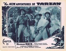NEW ADVENTURES OF TARZAN 1935 Herman Brix Chapter 11 VINTAGE SERIAL Lobby Card 6
