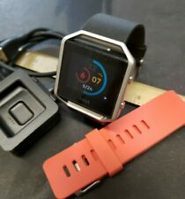 Fitbit Blaze Fb502 Activity Tracker Small Bands Black & Orange W/ Charger