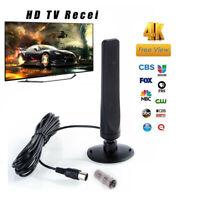 Antena interior de TV digital HD alcance 50 millas 1080P 4K+16Pies Cable coaxial