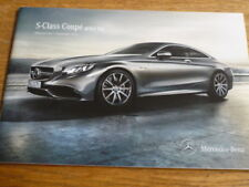 MERCEDES BENZ S CLASS COUPE PRICE LIST SALES BROCHURE SEPT. 2013