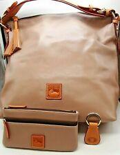 95cb2d66da DOONEY BOURKE McKenzie Hobo LARGE Brown Leather Shoulder Handbag Clutch Key  Fob
