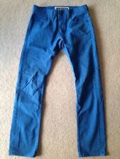 Levi's 511 Skinny 32x32 Blue Denim Jeans Men's 32 Slim Red Tag Tab Black Label