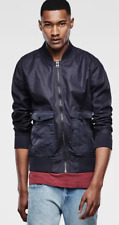 G Star Crotch Indigo Bomber Jacket Size Large *REF71*